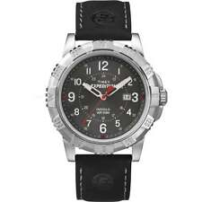 Timex Expedition Rugged Metal - Leather Strap Gents Watch With Backlight