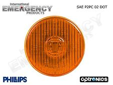 "Amber 2.5"" Round 7 LED Marker Clearance Truck Trailer Towing Light Side DOT"