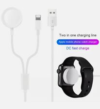 2in1 FASTER Wireless Charging Cable For Apple iPhone Charger and iwatch UKSeller