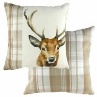 Evans Lichfield Natural Boston  Stag Cushion Cover or Filled 43cm x 43cm