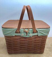 ** LONGABERGER ** 2009 Large Picnic COMBO (Basket, Liner, Protector, & Riser)