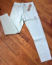 NWT $118 Levi's For Anthropologie Light Green Wedgie Icon High Rise Jeans Sz 26