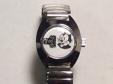 VINTAGE JUMP HOUR FELIX THE CAT WRISTWATCH CARTOON COMIC BOOK CHARACTER