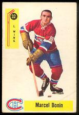 1958 59 PARKHURST HOCKEY #32 MARCEL BONIN VG-EX MONTREAL CANADIENS CARD