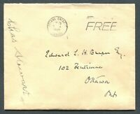 "ONTARIO 1946 STAMPLESS COVER - CDS TOWN CANCEL ""OTTAWA"""