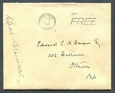 """ONTARIO 1946 STAMPLESS COVER - CDS TOWN CANCEL """"OTTAWA"""""""
