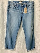 Womens MADEWELL Boy Jeans Light Wash Size 38 Waist 29 inseam length New w/Tags
