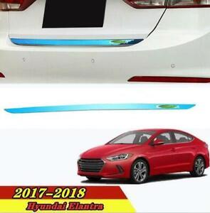 Fit For Hyundai Elantra 2017-2018 Blue Steel Tail Door Trunk Lid Strip Trim 1PCS