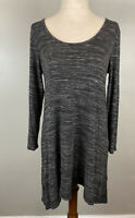 Soft Surroundings Heather Black Timely Scoop Top Sz S Stretchy Jersey Knit Tunic