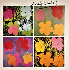 ANDY WARHOL SIGNED * FLOWERS * PRINT