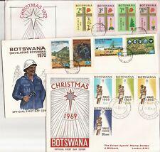 BOTSWANA/BOPHUTHATSWANA-  47 FDCs/CARDS ( 1960s-on)