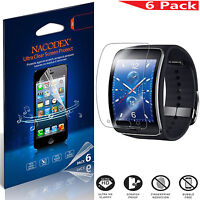 6X Nacodex HD Clear Screen Protector Guard Film For Samsung Gear S / R750