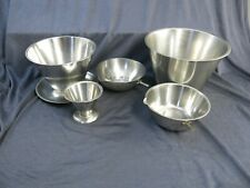 5 Vintage Stainless Steel Lab Bowls Medical Lab Surgical Dental Stainless Steel