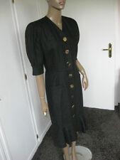 Renzo zauberhaftes Kleid 38 schwarz 100%Leinen