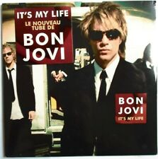"BON JOVI - FRANCE SINGLE CD IT'S MY LIFE"" - FRENCH STICKER - NEW - NEUF"