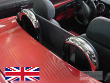 Fiat Barchetta Wind Deflector 1995-2005 Mesh Black (to fit Roll Bars not Inc)