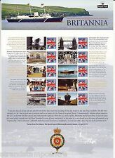 Css-020 - Hmy Britannia 60th Anniversary Commemorative Stamp Sheet