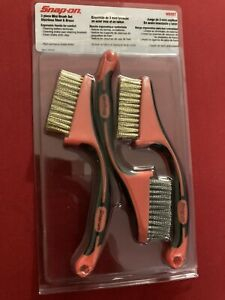 3pc Snap On Wire Brush Set Stainless Steel & Brass WBSET