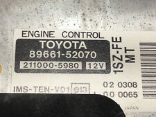 TOYOTA YARIS XP10 99 – 05 1.0 SEMI AUTO ENGINE CONTROL UNIT ECU 8966152070