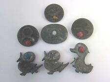 German Tinnies WWII Contribution Germanic Heritage Pin Shield Bird 7 pc Lot Vtg