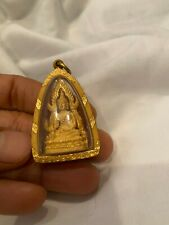Antique Vintage 22kt Solid Yellow Gold Case Buddha Thai Amulet 16 Grams Pendant