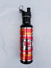 Kansas City Chiefs Steel Water Bottle with Metallic Graphics 26 oz. NEW