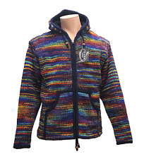 New Zigzag Ethnic Hippie Vintage Boho Nepalese Woolen Fleece Lined Winter Jacket