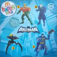 Lot 4 figurines BATMAN JOKER Happy meal McDonald's NEUF  2010 #CKDB