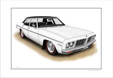 HOLDEN 71'  74' HQ   STATESMAN    LIMITED EDITION CAR PRINT AUTOMOTIVE ARTWORK