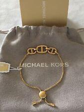 MICHAEL KORS Gold Maritime Lariat Pave Slider Bracelet MKJ4427 $95.00