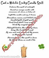 Cast a Witch's Lucky Candle Spell Wicca Book of Shadows Pagan Occult Ritual