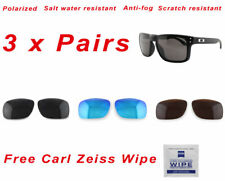 3 x Polarized Replacement Lenses For-Oakley Holbrook 9102 Sunglasses Value Packs