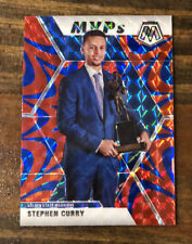 Stephen Steph Curry MVP 2019-20 Panini Mosaic Reactive Blue Prizm