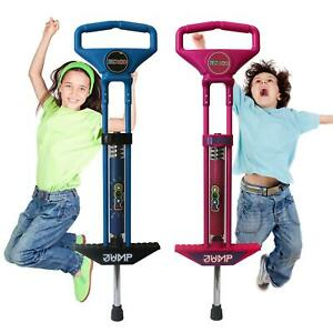 Pogo Stick Spring Powered Outdoor Jump Game Toy For Kids Boys Girls Pink Or Blue