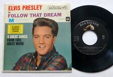 ELVIS PRESLEY 45 Follow That Dream RCA EPA-4368 pop rock 1962 Pic SLEEVE  Lc10