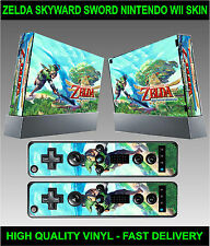 NINTENDO WII KIT Autocollant Skin Zelda Skyward Sword Style & 2 manette stickers