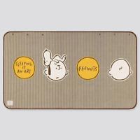 Uniqlo Peanuts Yu Nagaba Snoopy 2019 Fleece Blanket Throw Wearable Brown 418375