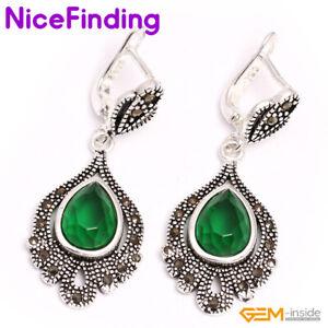 Assorted Stones Crystal Earrings Dangle Snap Stud Eardrop Jewelry Gift Women
