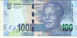 SOUTH AFRICA 100 RAND 2015 P 141. aUNC CONDITION. BARGAIN. 9RW 12SET