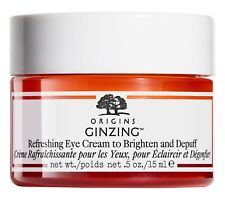 Origins GinZing Refreshing Eye Cream To Brighten & Depuff Eyes 15ml FULL SIZE