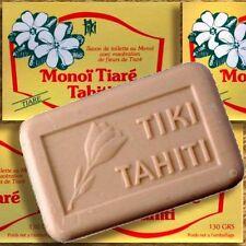 Confezione doppia MONOI Tiki Tahiti Savon Tiaré 2x130g olio vegetale-SAPONE Tahiti-GARDENIA