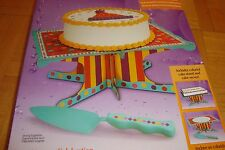 Wilton CELEBRATION Cake Stand and Cake Server Kit Great for Round or Sheet Cakes