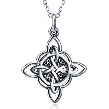 925 Sterling Silver good Luck Celtic Triquetra Trinity Knot Necklace Pendants