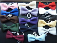 QUALITY BOYS/CHILDRENS BOW TIES ON ELASTIC -lots of colours to choose from!