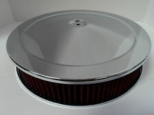 "14"" X 3"" Round Chrome Washable Air Cleaner Drop Base Extreme Ford Chevy SBC 350"