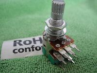 Panel PCB Mount Dual Step B-50K Split Shaft Switch Rotary Potentiometer 2 x 50K