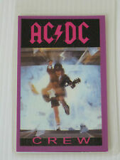 AC/DC Laminated CREW Backstage Tour Pass (Blow Up Your Video Tour)