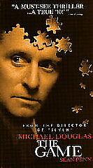 The Game VHS 1997 Michael Douglas Sean Penn