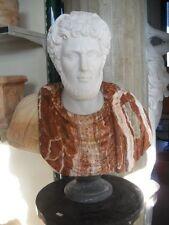 SCULTURA BUSTO IN MARMO cm.67 STATUA mod127/67 PIETRA Classic Marble Sculpture