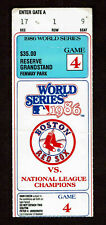 1986 WORLD SERIES TICKET STUB GAME 4 BOSTON RED SOX VS NEW YORK METS